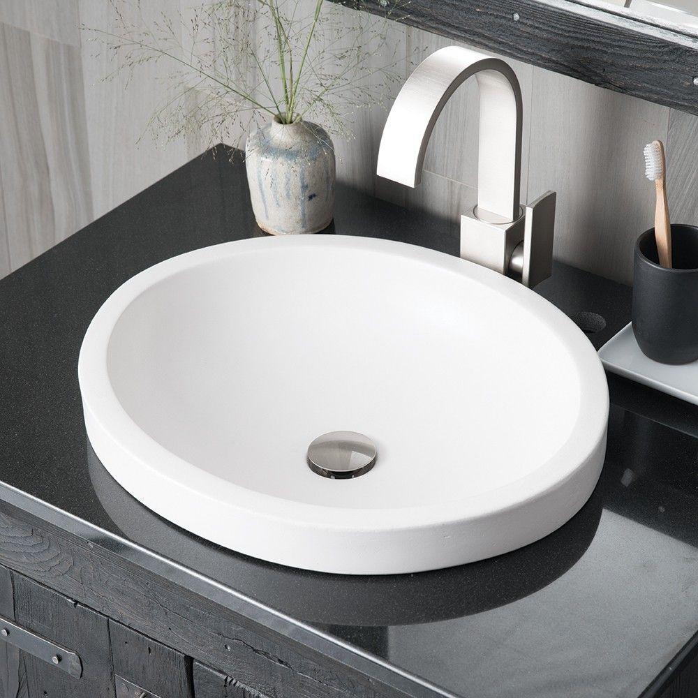 Tolosa Drop In Bathroom Sinks Sink Concrete Bathroom