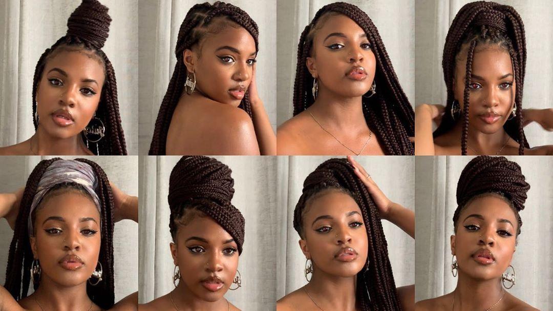 Kashiajabre On Instagram New Video 20 Ways To Style Box Braids Braided Hairstyles Updo Box Braids Hairstyles Box Braids Styling