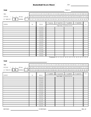 5 Basketball Score Sheet Templates Word Excel Templates Resume Templates Report Template Professional Templates