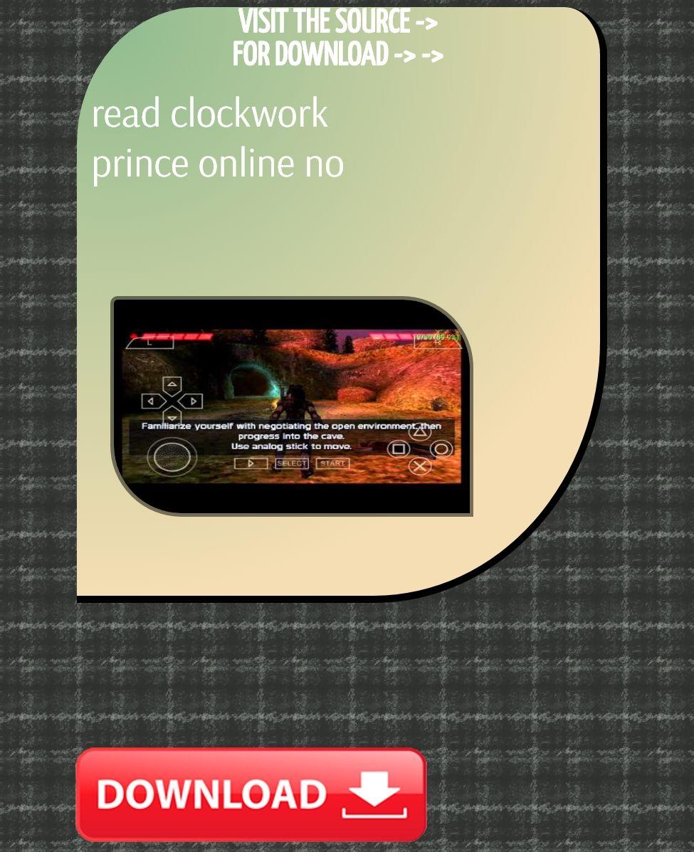 Read Clockwork Prince Online No Download Scritti Politti Provision