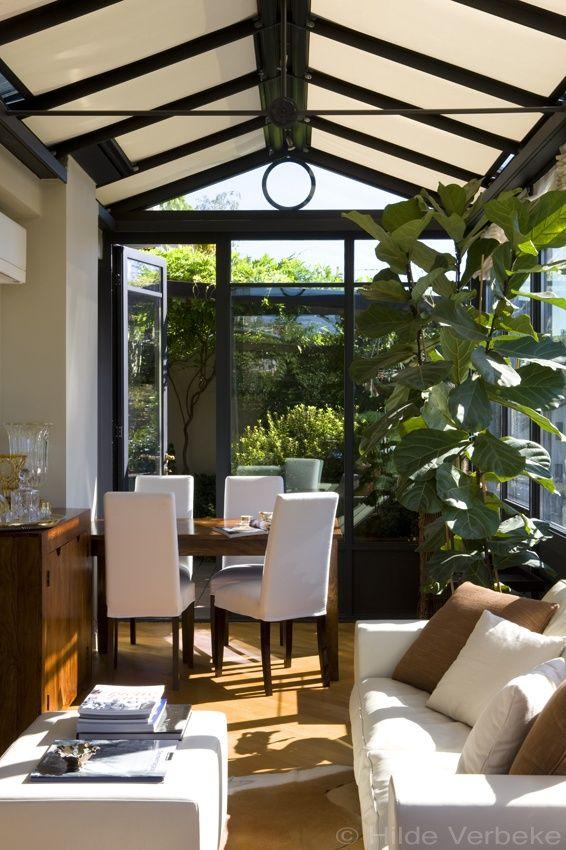 Oranjerie op dak van flatgebouw als woonuitbreiding, aluminium veranda | De Mooiste Veranda's