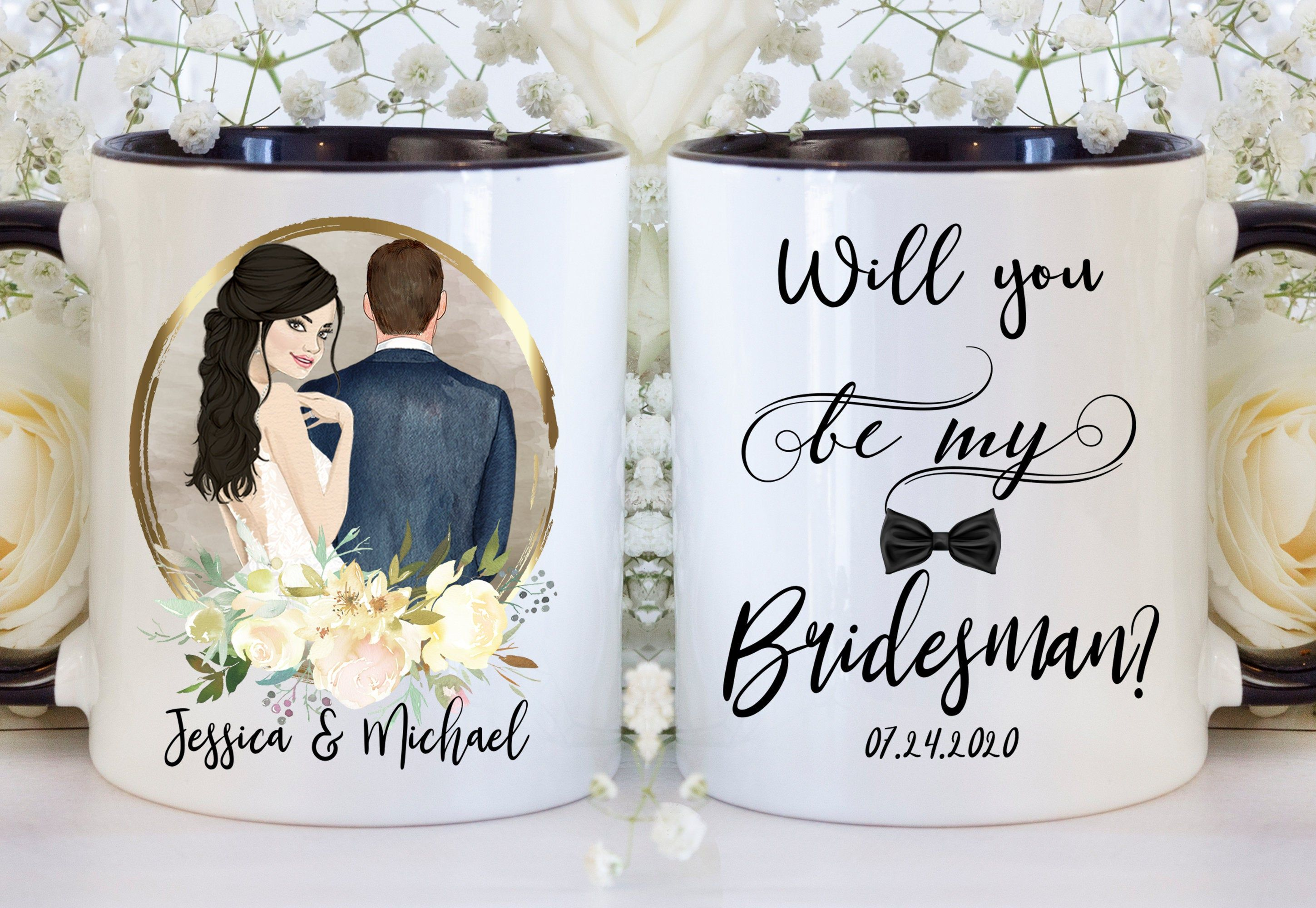 Custom Bridesman Wedding Gift Man Of Honor Gift Will You Be My Man Of Honor Gift Brother Mug Bridesman Gift Coffee Mug Thank You Man In 2020 Bridesman Gifts Wedding Gifts