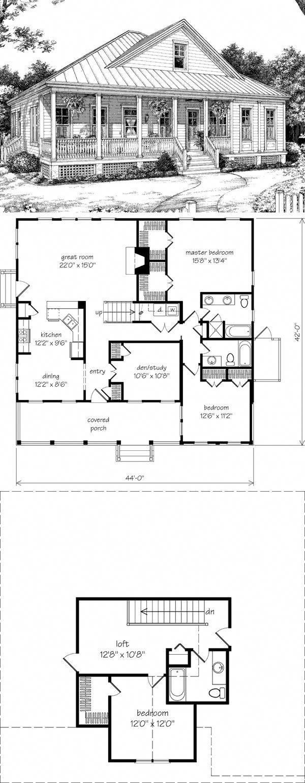 Great Layout Might Leave The Whole Upstairs As One Space Pwdr Rm For Studio Smallroomdesign Southern House Plans Dream House Plans Best House Plans
