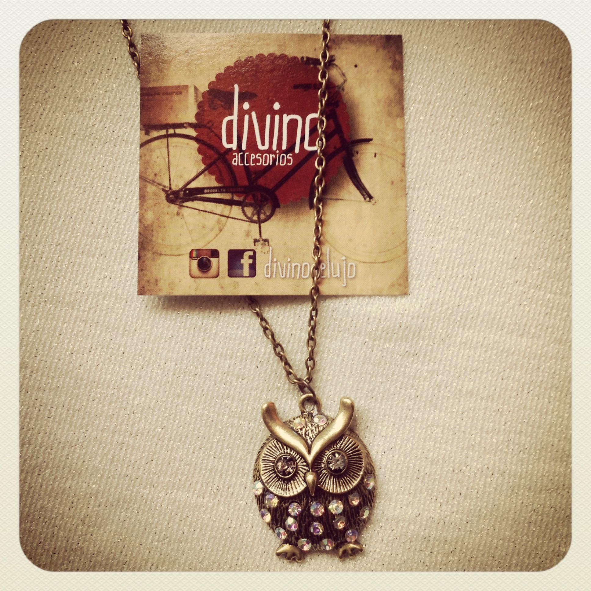 #collar #buho #divinodelujo #divino #fashion #moda
