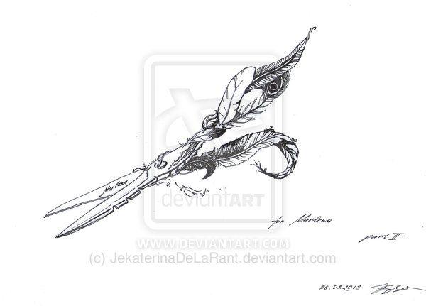 Scissors Feather By Jekaterinadelarant On Deviantart