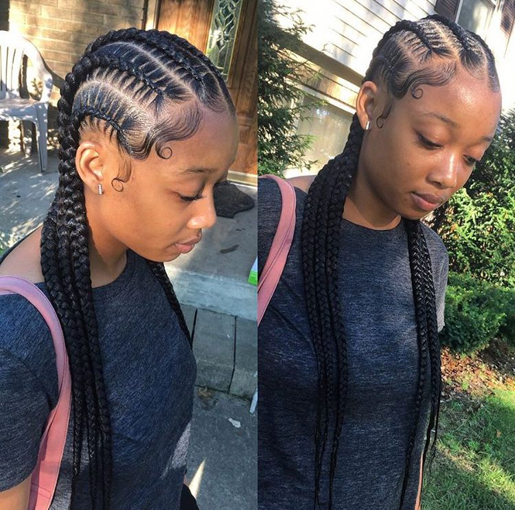 Love These Straight Back Cornrows With Images Hair Cure