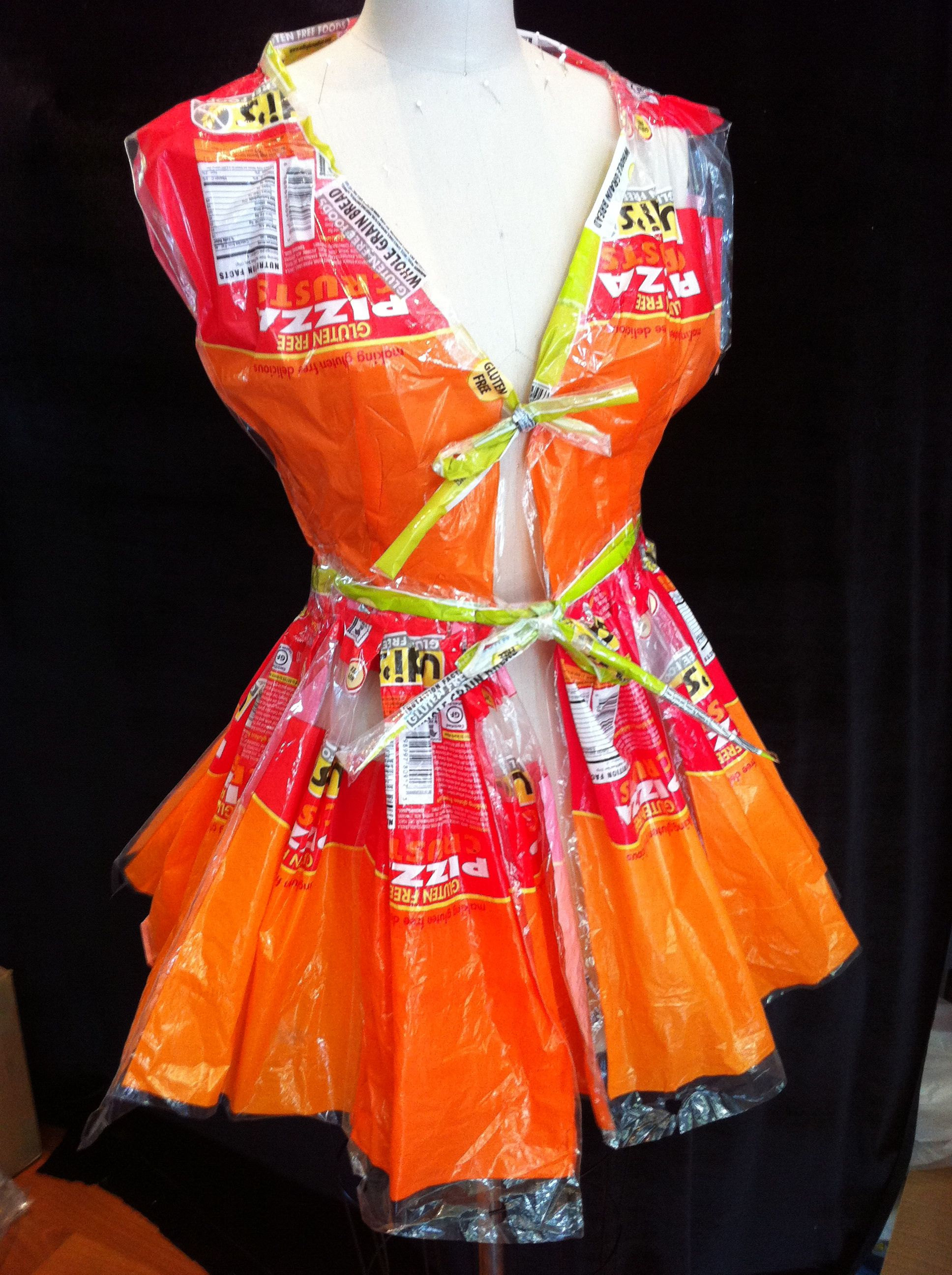 recycled wrapper dress | Fashion clothes women, Fashion ...