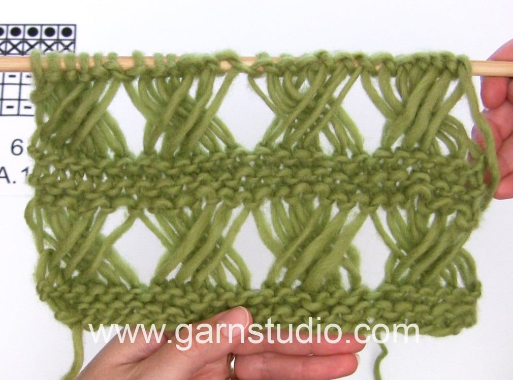 How to knit A.1 in DROPS 159-17 | Infinito | Pinterest | Infinito