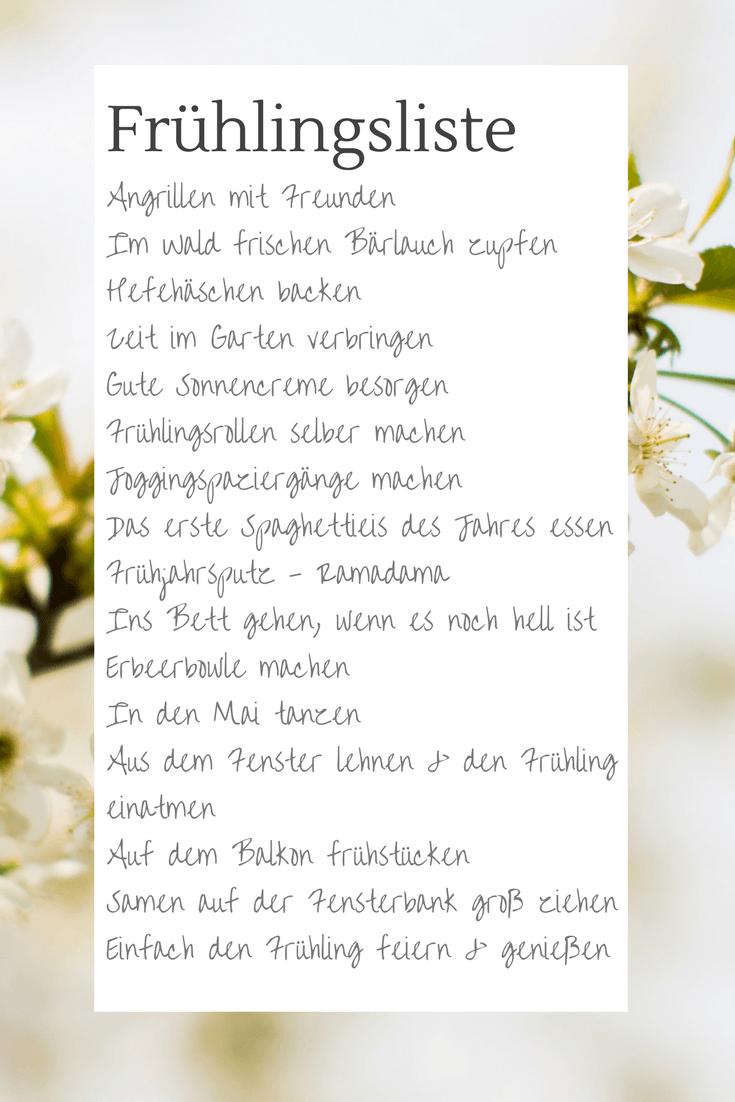 Bucket List Deutsch