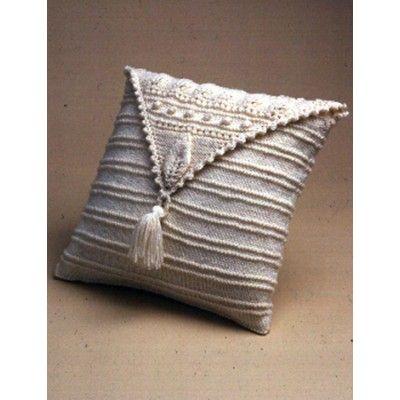 Aran Leaf Pillow Free Knitting Pattern And More Pillow Cushion