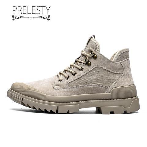 Prelesty Men Boots Luxury Winter Boots Platform Co