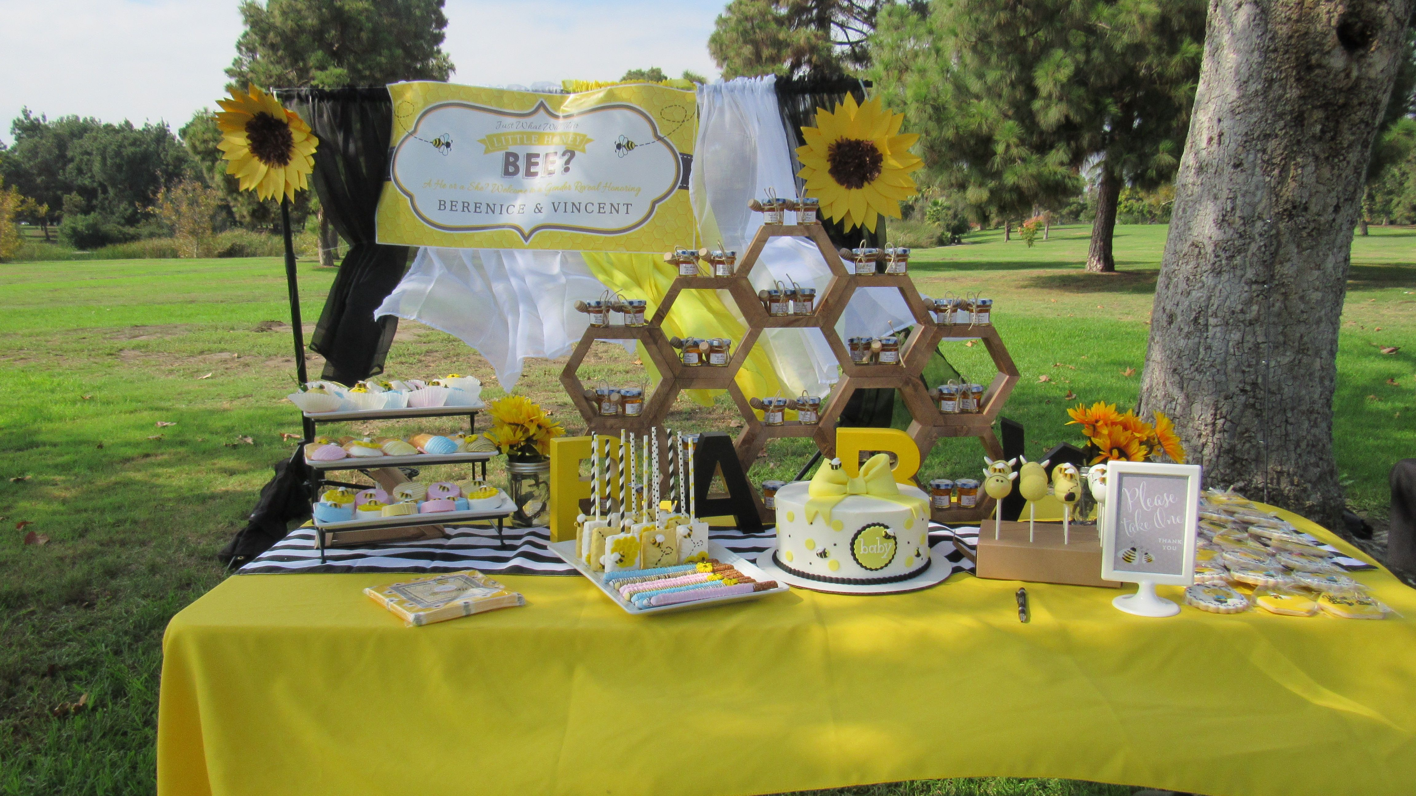 Dessert Table What Will Baby Bee Table Decorations Decor Baby Bee