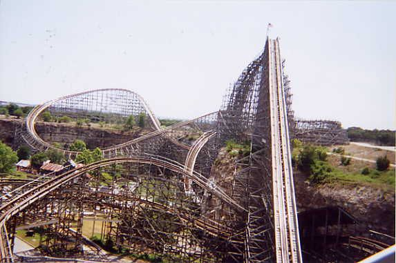 View Or The Rattler At Six Flags Fiesta Texas San Antonio Tx Six Flags Fiesta Texas Abandoned Amusement Parks Six Flags