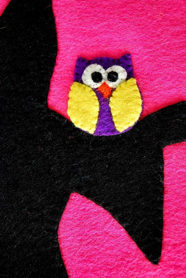Baykuşlu Büyücü Keçe Tablet Kılıfı