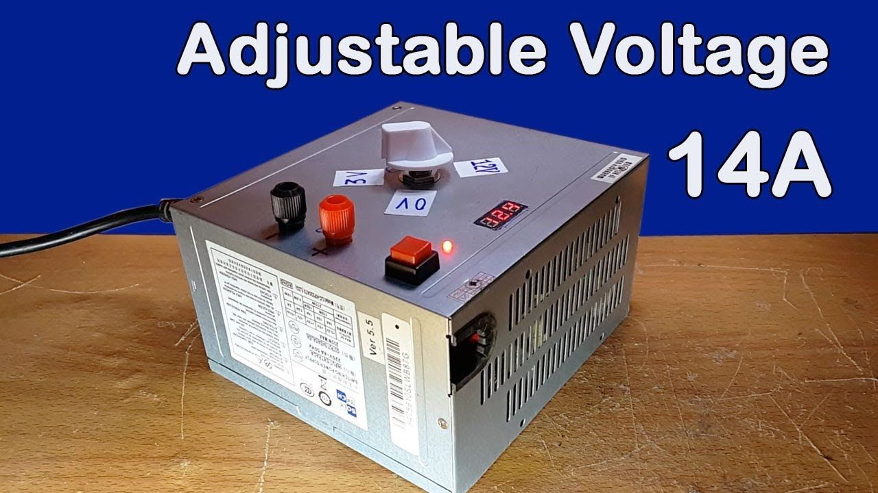 How To Make Adjustable Voltage From Old Computer Power Supply 14a At Home Computer Power Supplies Computer Supplies Computer Diy