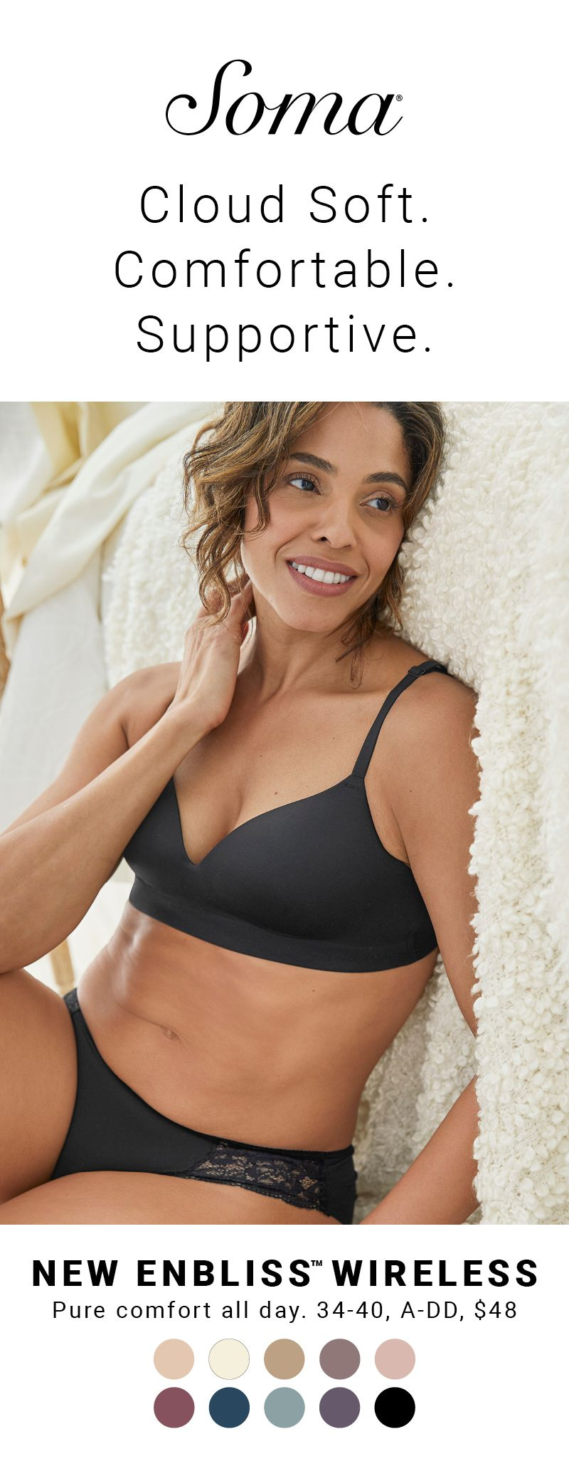 19b4e3f6d8 Cloud soft comfort and support coexist in one beautiful wireless bra – new  Enbliss. No wires