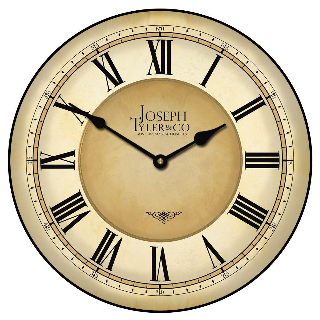 Waterford Gray And Tan Wall Clock Red Wall Clock Clock Pendulum Wall Clock
