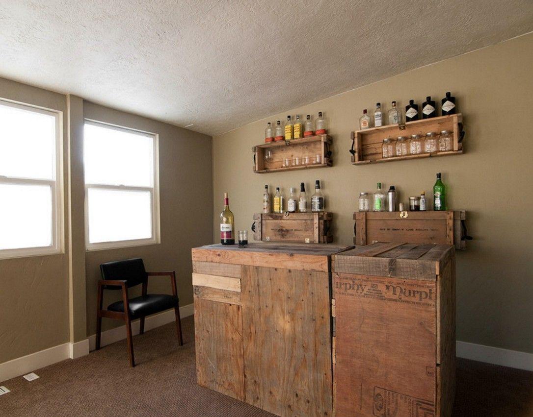 DIY Home Bar Ideas | Rustic Home Decor | Pinterest | Storage ideas