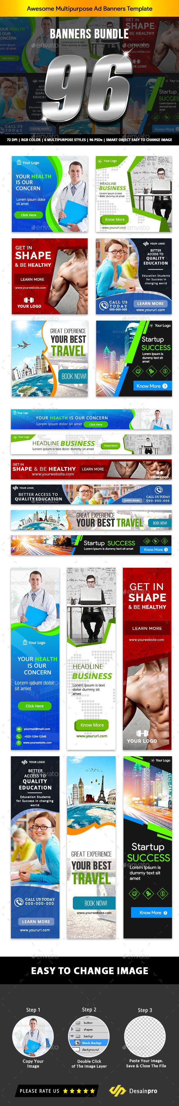 Banner Ads Bundle V1 - AR #Ads, #Banner, #Bundle, #AR