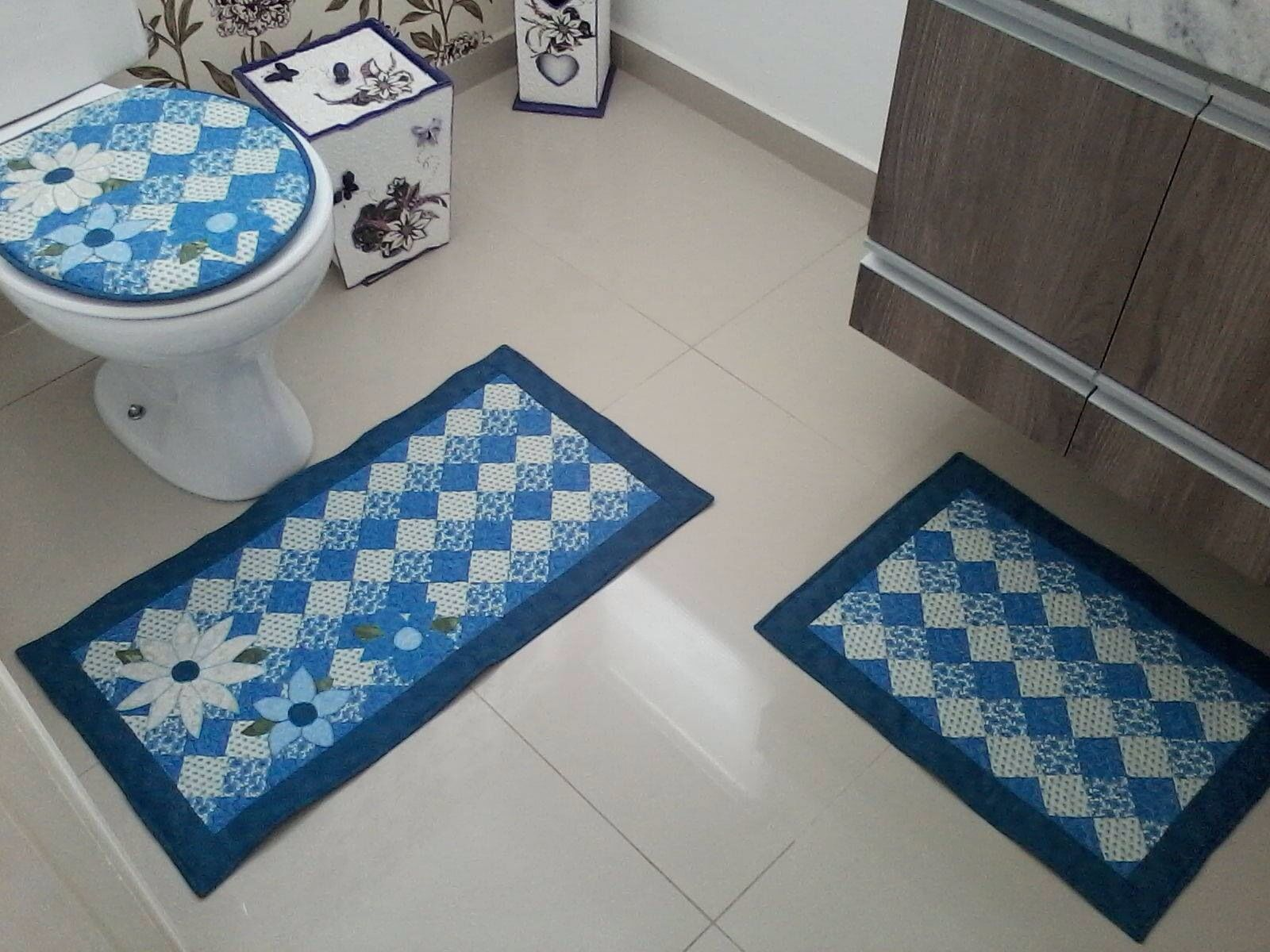 Jogo Banheiro Bete Tapete De Retalho Jogos De Banheiro Croche