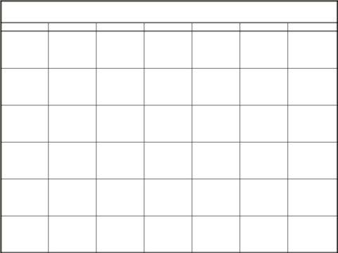 Blank Calendar Printable Calendar  Image  Diy