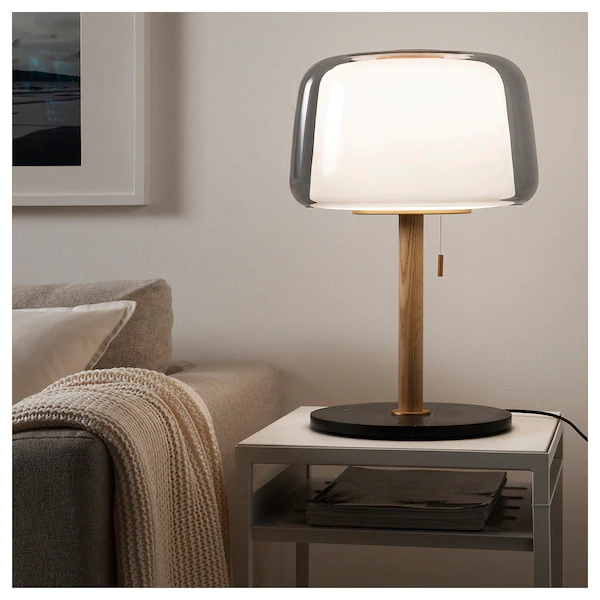 Evedal Lampe De Table Marbre Gris Gris Ikea Lampes De Table Table Marbre Marbre Gris