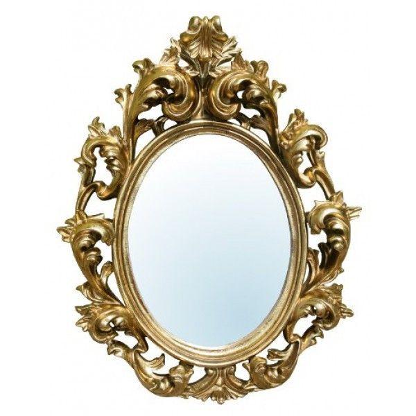 Gold rococo french oval wall mirror rococo pinterest for Baroque mirror