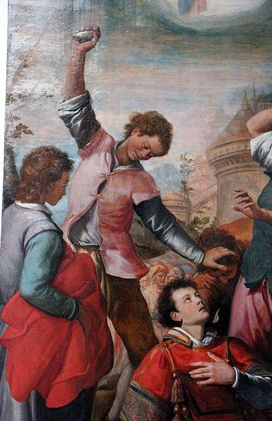 Santi di Tito (1536-1603) - Martirio di S. Stefano, dettaglio - 1599 - Chiesa dei Santi Gervasio e Protasio, Firenze