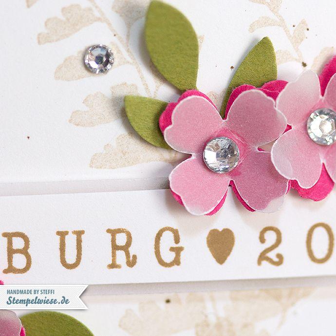 Stampin' Up! - Freudentränen - Verpackung - Muttis Spucke Feuchttücher - Salzburg 2015 - Demotreffen - Umschlag - Itty Bitty Blüten ❤ Stempelwiese