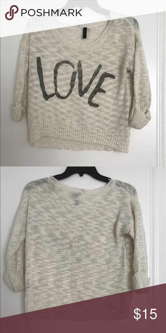 Love full tilt sweater Lightly worn. Great sweater. Comes up shorter on torso but it's the style of the sweater and is very comfortable Full Tilt Sweaters Crew & Scoop Necks