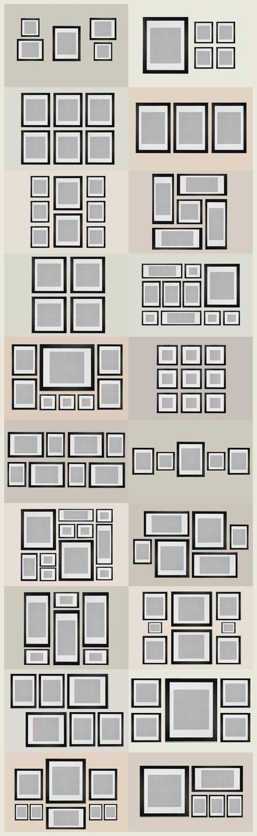 Algunas ideas para organizar cuadros en la pared | Marcos, Cuadro y ...