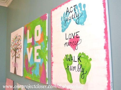 31 Kids Canvas Painting Ideas