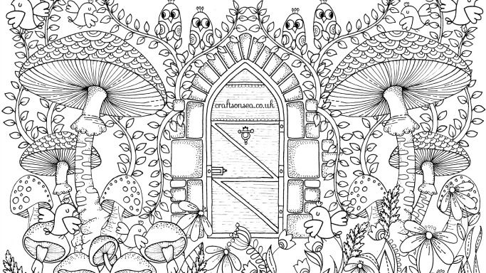 Free Garden Coloring Page For Adults Garden Coloring Pages Mandala Coloring Pages Cute Coloring Pages