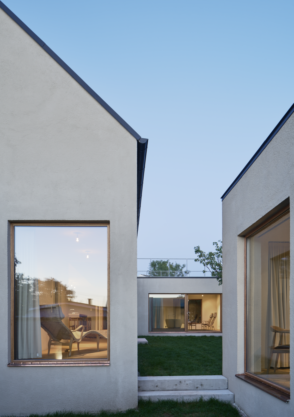 Sleek Scandinavian Design Permeates A Family S Summer House In An Old Fishing Village In 2020 Courtyard House House Designs Exterior House Exterior