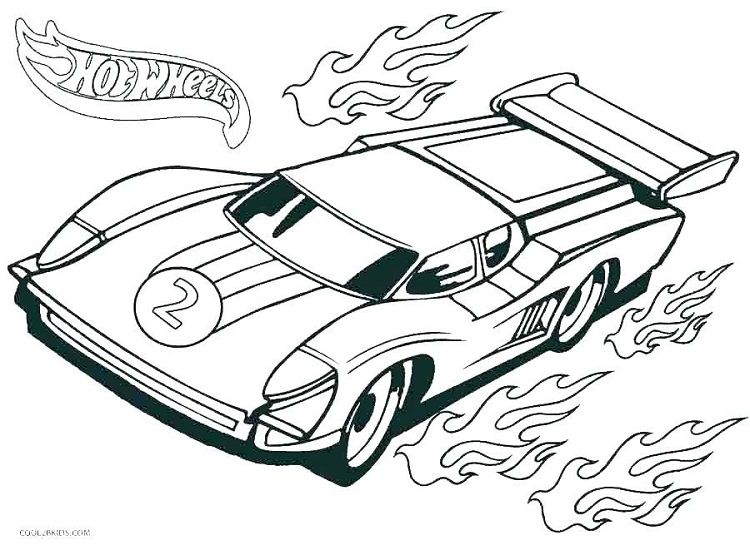 Race Cars Coloring Pages Pdf Tegning