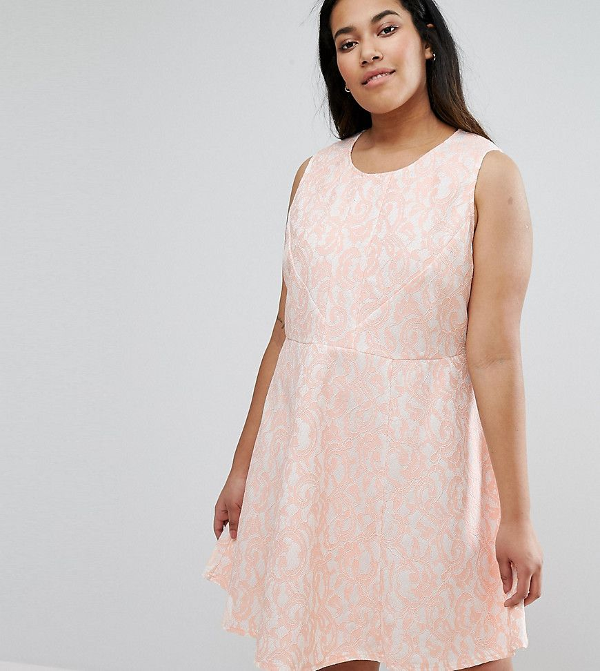 Ax paris plus skater dress in lace pink products pinterest