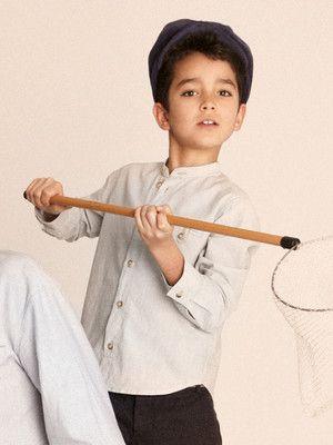 Schnittmuster: Hemd - Stehkragen - Hemden & Polos - Jungen - Kinder - burda style