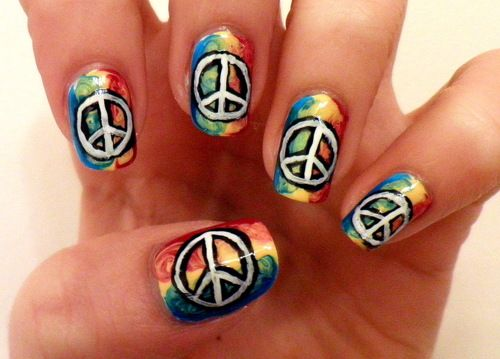 Peace Nail Design Did This One On Ashlynns Nails Was Sooo