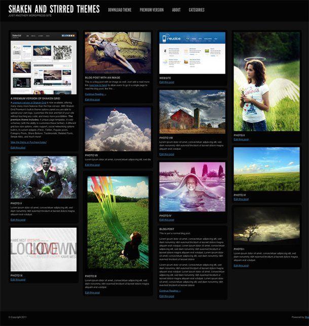 Shaken grid - wordpress theme   WordPress themes   Pinterest