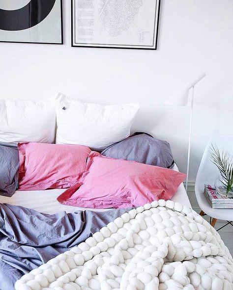 Handgefertigtes Woll-Plaid Super Chunky Pretty bedroom, Room and Duvet