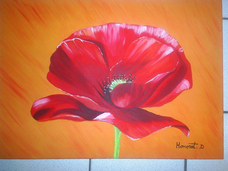 Peindre fleur l 39 acrylique recherche google coquelicots pinterest - Peindre a l acrylique ...