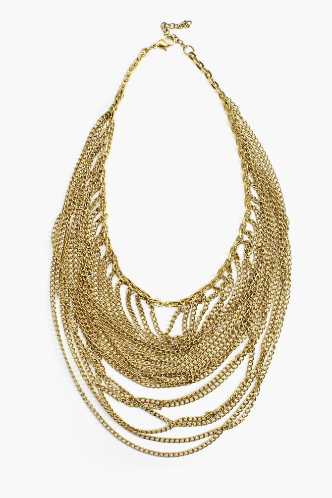 Luxor Chain Necklace Vintage-inspired chunky gold necklace ...