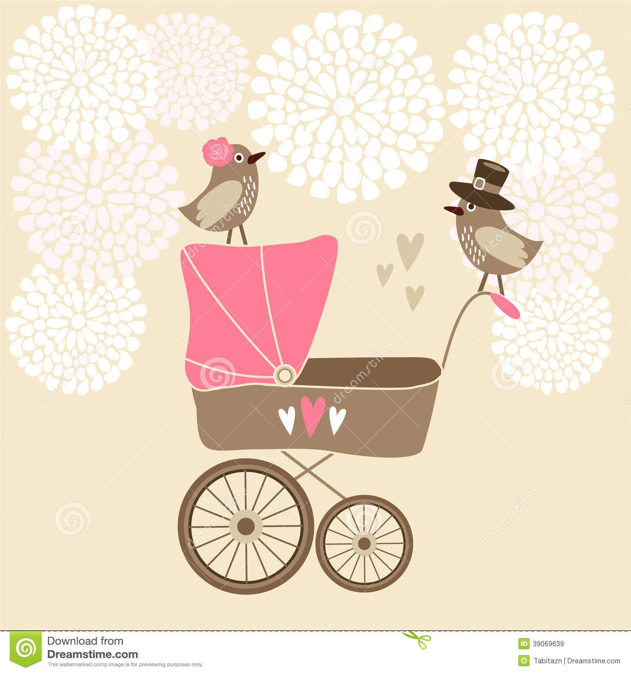 Cute baby shower card with baby carriage stock vector image cute baby shower card with baby carriage stock vector image stopboris Gallery
