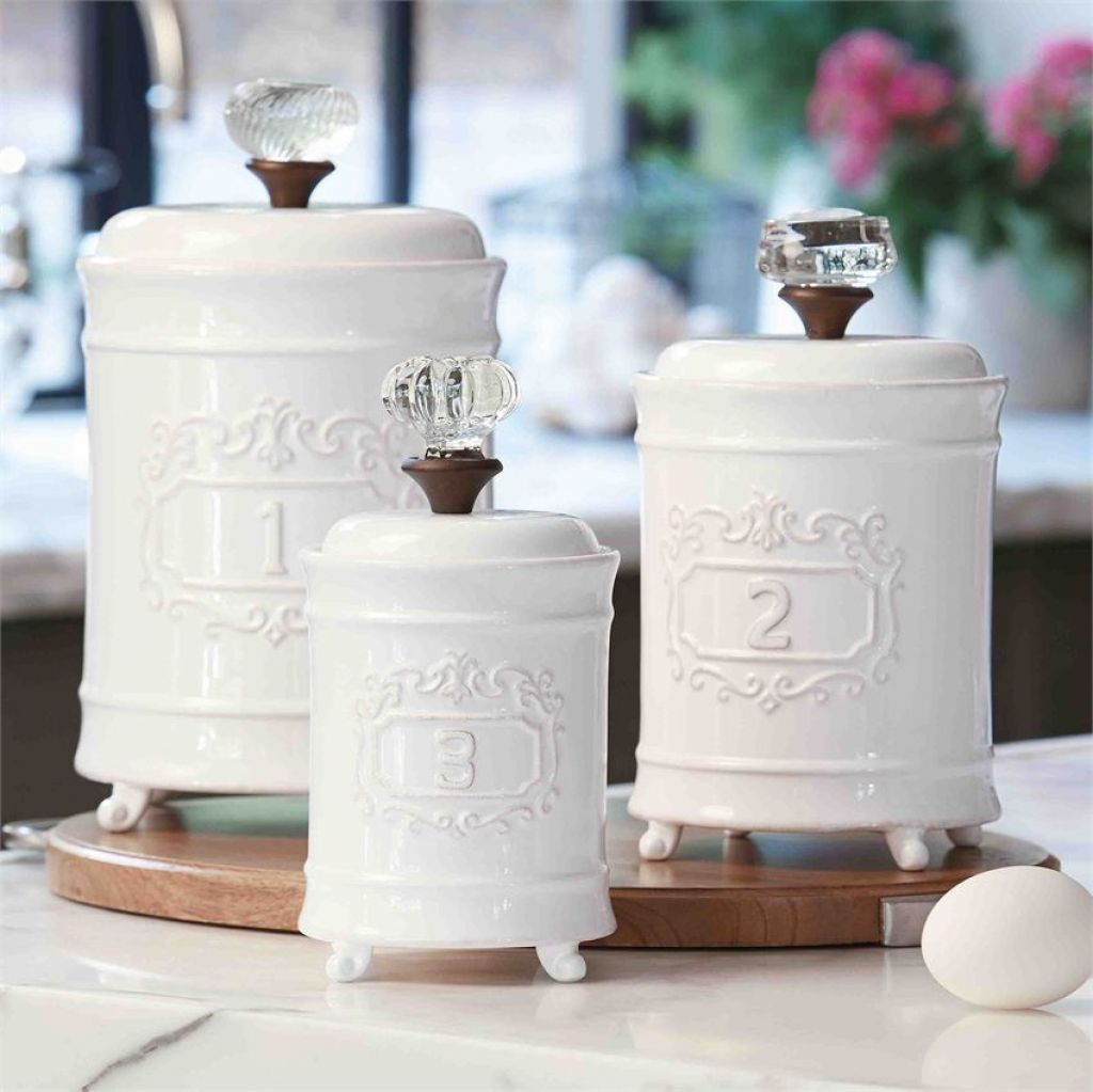 white ceramic canister set kitchen choosing kitchen addison ...