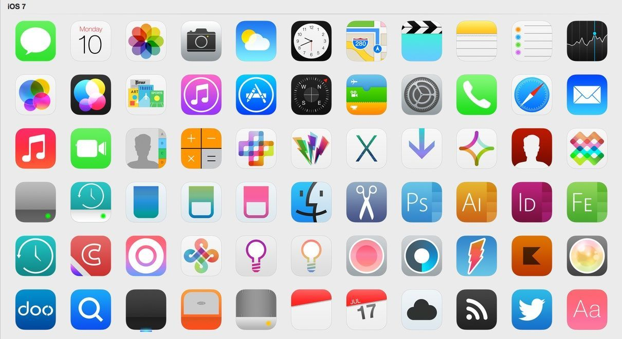 So many icons! Ios 7 icons, Apple icon, App icon
