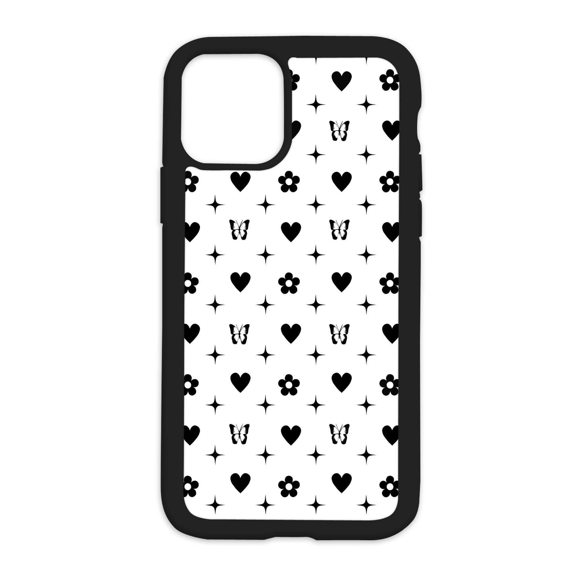 Colored Vibez Design On Black Phone Case - 6/6s / Black