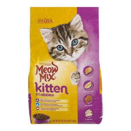 Meow Mix Cat Food Kitten Li L Nibbles 50 4 Oz Dry Cat Food Cat