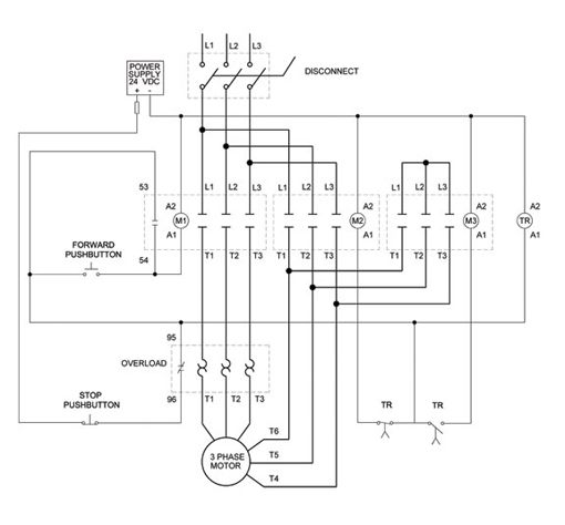 3 phase motor wiring diagrams non stop engineering electronic on wiring diagram for a 3 phase motor