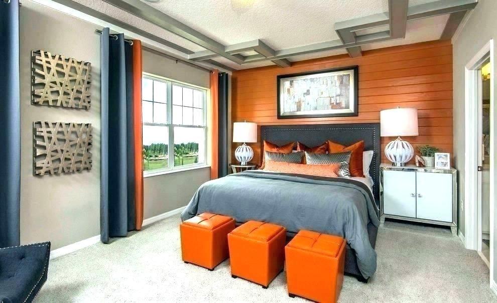 Burnt Orange And Grey Bedroom Ideas In 2020 Bedroom Orange Living Room Orange Orange Rooms