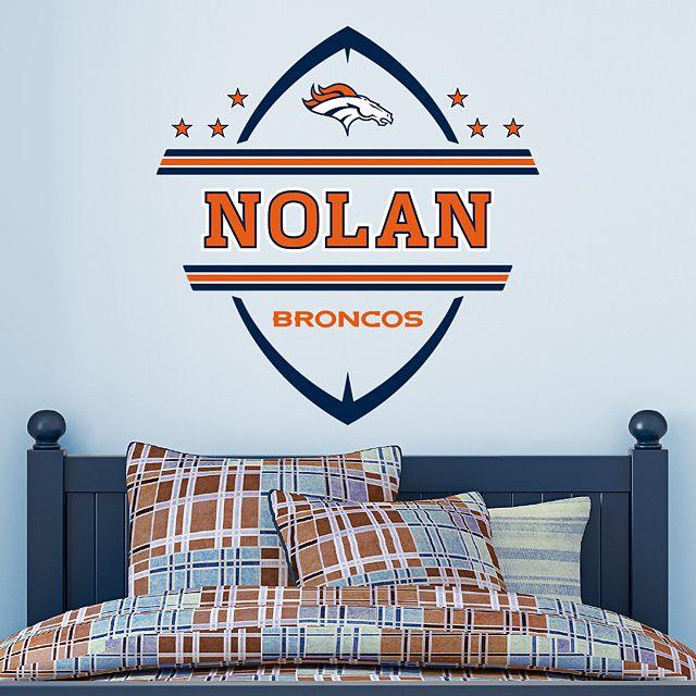e1b13c92 Denver Broncos: Personalized Name - Giant NFL Transfer Decal | Kids ...